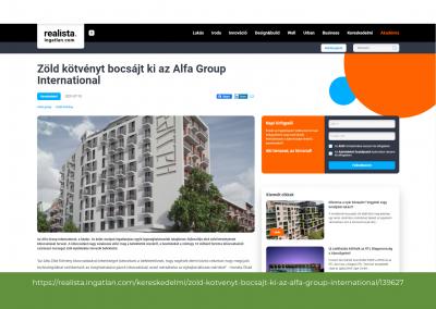 realista - Zöld kötvényt bocsájt ki az Alfa Group International