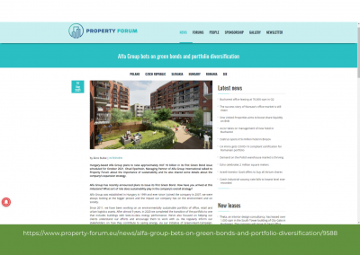 Property Forum - Alfa Group bets on green bonds and portfolio diversification