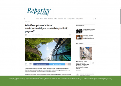 Property Reporter - Alfa Group's work for an environmentally sustainable portfolio pays off
